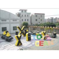 China Inflatable Paintball Obstacles For Rental / Outside Portable Inflatable Bunkers wholesale