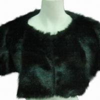 China Fur cape with real fur appearance and soft texture on sale