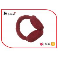 China Heart - Shaped Faux Fur Winter Ear Muffs Red Paillette On The Band wholesale