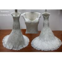 China Bridal Cap Sleeves Sweetheart&Luxe Lace Mermaid Wedding Dress 2012 wholesale