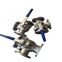 China Stainless Steel DN200 CF8M 3 Way Flanged Ball Valve wholesale