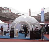 China Clear Waterproof Geo Shelter Dome Tent , Transparent Party Half Dome Tent Geodome Tent wholesale