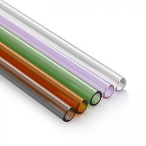China High Borosilicate Glass drinking straw / pipe/ tubing for tea / water / bubble tea/milk on sale