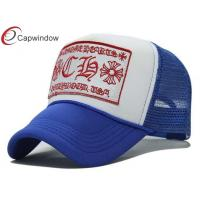 China Adult 6 Panel Trucker Mesh Hats Adjustable With Flat Embroidery wholesale