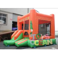 China PVC Crayons Cartoon Inflatable Bouncer House With Slide For Fun wholesale