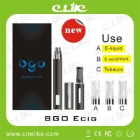 China 3 in 1 E-cigarette use Dry herb, Wax/E solid and E liquid Bgo Kit with Lcd Battery wholesale