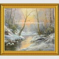China Framed Custom Winter Landscape Painting With Snow  Neo - Classic Style on sale