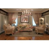 China Luxury French-type Sofa set made by Wooden Carving Frame with Fabric Upholstery wholesale