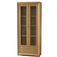 Tall Solid Wood Furniture Display Cabinets For Living Room Corner Display Unit Of