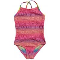 China Girls big size and medium one-piece bathing suit children, hollow out hook weaving swimsui wholesale