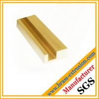 China Extruded copper extrusion sections profiles for brass hardwares wholesale