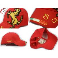 Quality Red F1 Horse Racing Baseball Caps Snapback Baseball Hats With Reinforced Sweatband for sale