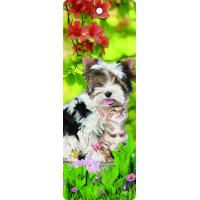 China Custom Lovely Dog Lenticular 3D Animal Bookmarks With Tassel For Gifts And Souvenirs wholesale