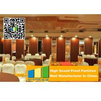 China Aluminum Frame Wooden Operable Partition Wall Soundproofing For Banquet Room on sale