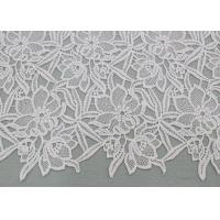 China Water Soluble Embroidered Polyester Lace Fabric With Floral Lace For Dress Designer wholesale