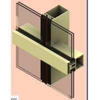 Quality T5 / T6 Aluminum Curtain Wall Profile Oxygenate Coloring For Buildings for sale