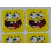 China Funny CMYK Offset Printing Epoxy Dome Cartoon Stickers For Kids wholesale
