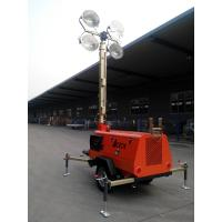 China 9m 4*1000W Mobile Light Tower GTLT09TN4000 with Kubota Engine Manual Operation on sale
