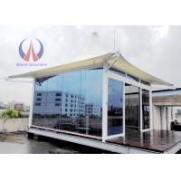Wholesale Prefab Glass Sunshine Hut For Luxury Tent Hotel , Permanent Tent House Glamping And RVs from china suppliers