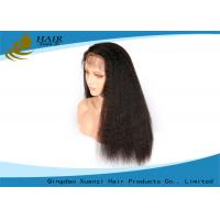 China 100% Kinky Straight Full Lace Human Hair Wigs 20 Inch Bouncy Smoothing wholesale