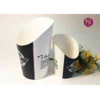 China 12oz Disposable Double PE Paper French Fries Cup By Flexo Print wholesale