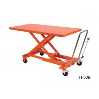 China Orange Mechanical Scissor Lift , Hydraulic Table Cart Trolley Scissor Lift wholesale