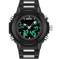 China Wholesale Sbao Men Dual Time Waterproof 30m Chronograph Alarm Fashion Sport Wrist Watches  S-9000 wholesale