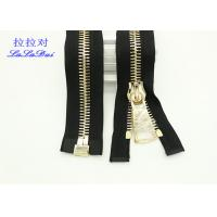 China Bright 22 Inch Dual Separating Parka Zipper , Light Gold Teeth Reversible Separating Zipper wholesale