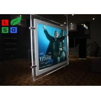 China Cable Suspension LED Shop Display Graphic Size A3 A4 LED Light Pockets For Real Estate Store wholesale