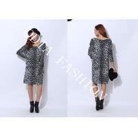 China Long Ladies Crew Neck Sweaters with Leopard Prints Showing Dignity wholesale