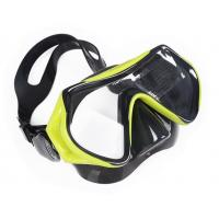 China Adjustable Kids Diving Mask One Piece Swimming Goggles With Nose Cover wholesale