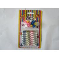 China Non - Toxic Magic Relighting Candles , Disposable Spiral Taper Candles 12Pcs wholesale