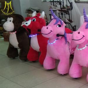 China Hansel shopping mall unicorn ride on electronic amusement stuffed animal electric ride on toy wholesale