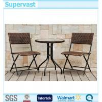 Resin Wicker Folding Patio Furniture Set 3PC Outdoor Bistro Table Sets Of I
