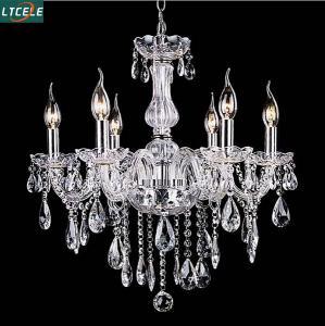 New crystal chandelier for home lighting lustres de cristal E14 bulb light fixtures