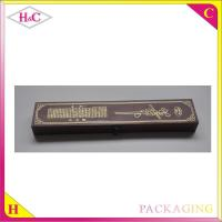 China Customized luxury plywood pen packaging gift box wholesale