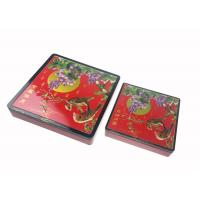 China Traditional Design Square Mooncake Box With Lid For Mid - Autumn Festival on sale
