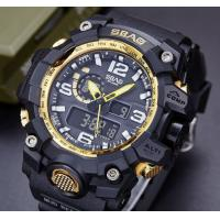 Quality SBAO New Men Multifunction Dual Time Alarm Calendar Waterproof 30m Outdoor Sports Wrist Watches S-8005-2 for sale