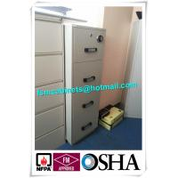 China 4 Drawer Fire Safe File Cabinet , Fire Resistant File Cabinet  For Office Data wholesale
