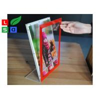 China L Shape Ctystal Thin Light Box Acrylic Frame For Desktop Menu Sign Board wholesale