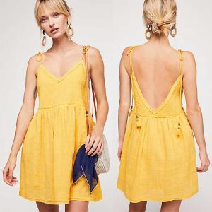 China Clothing Women Wholesale Manufacturer Mini Smocked Dress wholesale