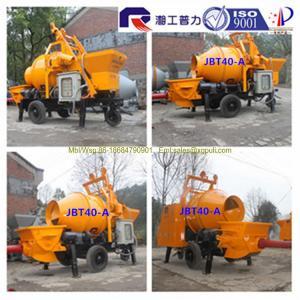 China Pully JBT40-P1 electric concrete pump with drum mixer, mobile diesel concrete mixer pump wholesale