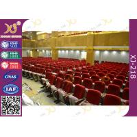 China Varnished Upholstered Beech Plywood Church Hall Chairs / Movie Theater Seats wholesale