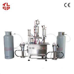 China Under Cap Freon Refrigerant Aerosol Filling Machines For R134a / R12 / F22 on sale