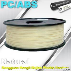 China Natural Color 1.75mm PC / ABS 3D Printer Filament 1.3kg / Spool wholesale