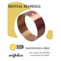 China Wrapped Bimetal Bushing Bearing With Lubrication Pockets DIN1494 on sale