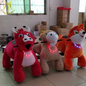 China Hansel  Amusement park kid game soft baby animal plush ride hot sale wholesale