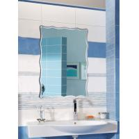 China Rectangular Illuminated Bathroom Wall Mirrors Framed Irregular Edges wholesale