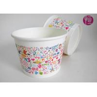 Quality 550ml Disposable Ice Cream Cups Single Wall Frozen Yogurt  SGS for sale