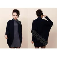China Shawl Collar Wool Ladies Poncho Sweater , Long Sleeve Cardigan Sweaters for Women wholesale